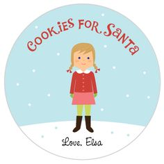 Olliegraphic personalized santa cookie plate!  A great custom gift for little ones. Cookies For Santa Plate, Santa Plates, Plates And Bowls, Customized Gifts, Little Ones, My Design, Kids Room, Birthday Parties, Joy