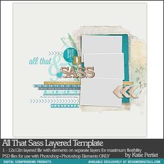 All That Sass Layered Template- Katie Pertiet - PSE/PS Templates- DesignerDigitals Scrapbook Sketches, Card Sketches, Scrapbook Albums, Scrapbook Cards, Scrapbook Layouts, Page Maps, Adobe Photoshop Elements, Digital Scrapbooking, Scrapbooking Ideas