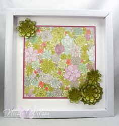 Oh so succulent picture frame #stampinup #occasions #saleabration #onstage