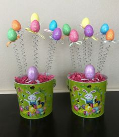 Easter Egg Centerpiece Table Decor Bunny Decoration Egg Tree Topiary Basket #BoutiqueChicGallery