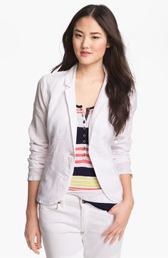 Caslon Casual Linen Jacket available at #Nordstrom