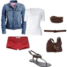 Shorty Shorts, created by mrscosentino.polyvore.com