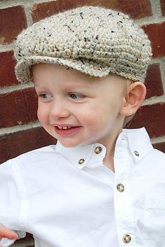 Driver's Cap (Skully) Crochet Pattern $5