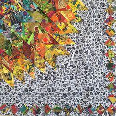 Sunburst, made with African fabric scraps