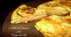Tortilla de calabacín, queso y jamón cocido