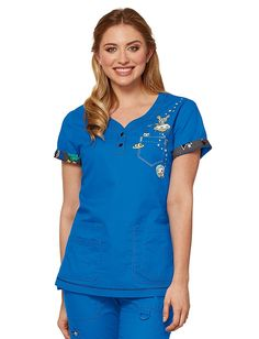 Koi Space Cadet Katrina Tokidoki Scrub Top Shop TokiDoki from Koi #Koi #Tokidoki #Scrubs #nurses