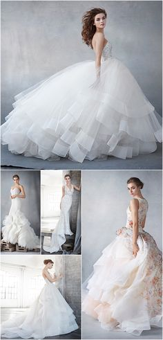 Gorgeous and timeless Lazaro wedding dresses