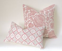 Offered is one Blush and cream pillow cover, in your choice of fabric and size. The Batik Floral is Cream and shades of Blush, the Tile pattern pillow is blush and grey on cream.Care Info: Machine wash delicate, lay flat to. Cream Pillow Covers, Sofa Pillow Covers, Decorative Pillow Covers, Sofa Pillows, Blush Pillows, Cream Pillows, Floral Pillows, Blush And Grey, Geometric Pillow
