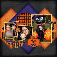 halloween layout- different way to layer paper