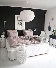 "Gefällt 2,174 Mal, 9 Kommentare - Scandinavian Homewares (@istome_store) auf Instagram: ""Love the gorgeous bedroom of @mittlillehjerte Vita Eos light shade and Ferm Living Plant Box…"""