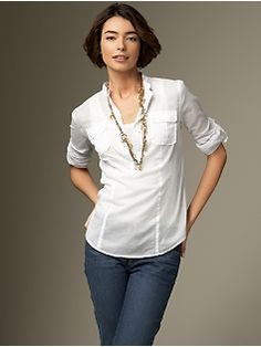 White shirt, blue jeans...what I always want to wear...