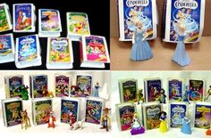 McDonald's Happy Meal Disney character toys that came in a little video tape style box