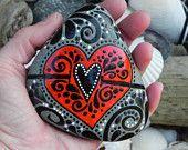 A  VERY Joyful Heart / Painted Rock / Sandi Pike Foundas
