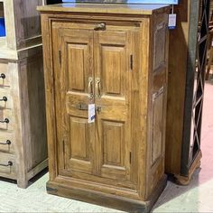 "Reclaimed Wood Storage Cabinet Item 510923 Measures: 28x17x48"" Priced at $397 - #reclaimed #rustic #rusticdecor #rusticfurniture #reclaimedfurniture #cabinet #storage #storage #cabinet #reclaimedwoodfurniture"