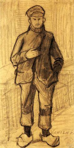 Boy with Cap and Clogs - Vincent van Gogh · ?