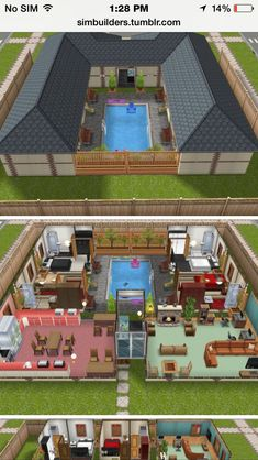 the Sims House Ideas - 55 Best Sims Freeplay Floor Plan Ideas Pic – Daftar The Sims Mobile share your house blueprints Answer HQ Imagem de Maquetes de casas p Sims House Plans, House Layout Plans, Modern House Plans, House Layouts, House Floor Plans, Courtyard House Plans, Sims 4 Houses Layout, Dream House Plans, Casas The Sims Freeplay