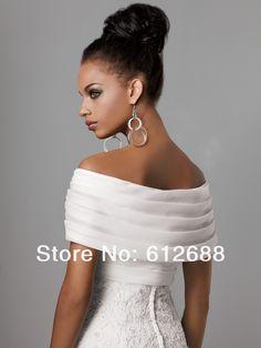 Aliexpress.com : Buy 2014 White Organza Pleat Shawl Off the Shoulder Shirred Bridal Wedding Bolero Jacket Short Wedding Shrug Cape Shawl from Reliable jacket outwear suppliers on holy love | Alibaba Group