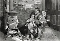 """Shorpy Historical Photo Archive :: Hard Times: 1937. """"Johnson family—father unemployed"""", Scott's Run, West Virginia."""