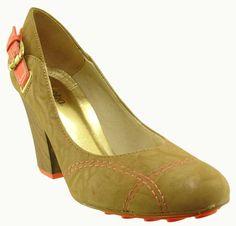 Mônica Shop - Feminino / Sapatos / Salto Alto / Miucha 9558 Sapato Scarpin Bico Redondo - Taupe - Miucha