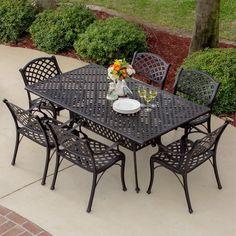 Heritage 7-piece Bronze Cast Aluminum Patio Dining Set
