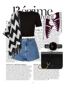 """Untitled #59"" by clodfever on Polyvore featuring Anja, Glamorous, Ted Baker, Converse, Mulberry and CLUSE"