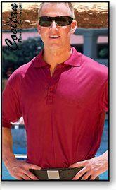 Burgundy tan through shirt