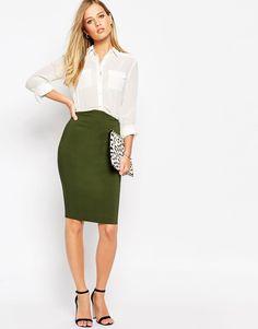 Image 1 of ASOS High Waisted Pencil Skirt