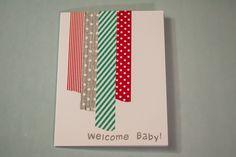 baby shower invitation using washi tape