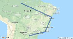 Brazil Highlights Itinerary Map