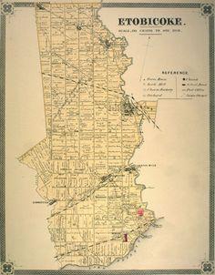 toronto etobicoke map
