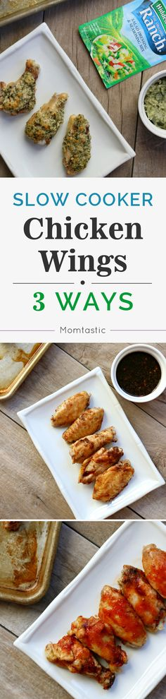 I've made them so many different ways, but I do have my three ultimate favorites:  Korean BBQ wings, three-ingredient party wings, and garlic parmesan ranch wings. The best part is that all three recipes are made exactly the same way until the last step. This makes it easy to make a big platter of wings for a party and have the option of mixing and matching flavors.