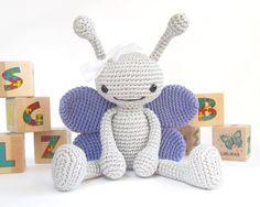 (4) Name: 'Crocheting : Long-Legged Butterfly