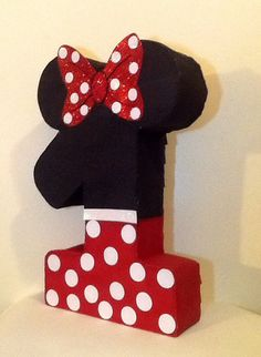 Minnie mouse piñata. Number minnie mouse pinata. by aldimyshop