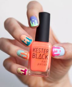 Rad slime mani how-to from Drop Dead Gorgeous Daily: http://dropdeadgorgeousdaily.com/2012/11/kester-black-shows-us-how-to-get-the-raddest-slime-mani-around/