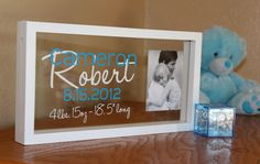 Personalized baby photo name frame by wildgreenrose on Etsy