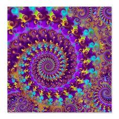 #Psychedelic #Purple #Fractal #Art #Shower #Curtain