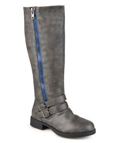 Another great find on #zulily! Gray Lady Extra Wide-Calf Boot #zulilyfinds