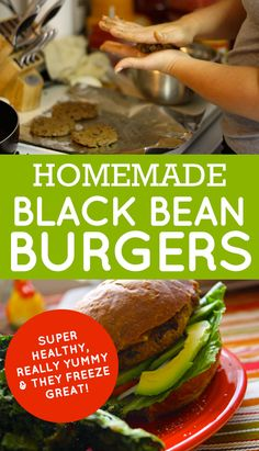 Quick post tonight, feeling super sleepy and writing isn't probably the best idea. Went grocery shopping after work and wanted to come home to whip up something quick for dinner. Black Bean Burgers (Adapted from Allrecipes) 1 (16 ounce) can black beans, drained and rinsed 1 green bell pepper, cut into 2 inch pieces 1/2 … Burger Recipes, Veggie Recipes, Vegetarian Recipes, Cooking Recipes, Healthy Recipes, Top Recipes, Legumes Recipe, Black Bean Burgers, Homemade Black