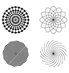 Radial Design Elements Vector By Piecemain Image 2334 Vectorstock Pattern