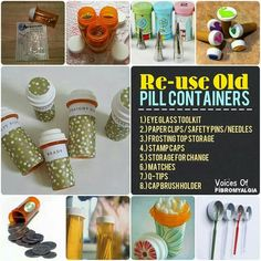 30 Simple But Beautiful Pill Bottle Crafts Ideas - DIY Craft and Home Medicine Bottle Crafts, Pill Bottle Crafts, Medicine Bottles, Reuse Pill Bottles, Recycled Bottles, Bottles And Jars, Plastic Bottles, Empty Bottles, Upcycled Crafts