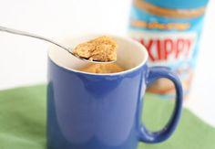 Flourless Peanut Butter Mug Cake.