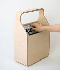 Magi is a practical solution for the storage of magazines. Its compact proportions and integral handle, allow it to be easily moved and placed against any wall or beside a chair or sofa. Plywood Furniture, Furniture Plans, Furniture Design, Kids Furniture, System Furniture, Furniture Chairs, Garden Furniture, Bedroom Furniture, Outdoor Furniture