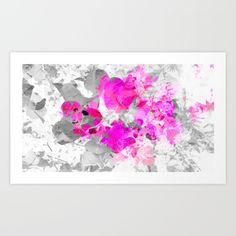 Abstract floral art (pink bougainvilleas)