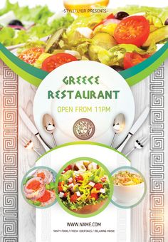 Download our new free flyer, which ou can use for your restaurant or cafe. Our new Greece Restaurant Opening Flyer will be a great addition to its promotion. #restaurant #cafe #greece #food