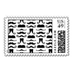 Mustache Print Postage