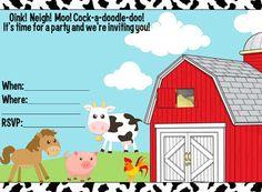 FREE Farm Animals Party Printables