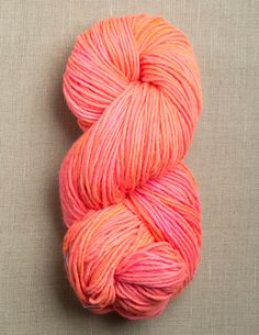 purl soho | products | item | tosh merino (madelinetosh) in neon peach