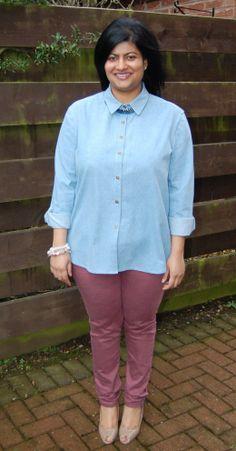 Grainline Studio Archer Button Up Shirt (2): DIY Blue Denim Shirt