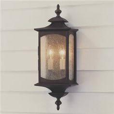 The Feiss Market Square Outdoor Wall Lantern is a classic look for your brick-front home. This light features an oil-rubbed bronze finish and clear seeded-glass. Outdoor Barn Lighting, Garage Lighting, Outdoor Sconces, Outdoor Wall Lantern, Porch Lighting, Outdoor Walls, Home Lighting, Lighting Ideas, Luxury Lighting