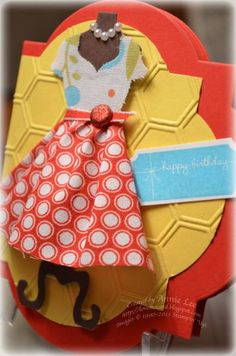 Dressed Up Framelits meet Fabric by lovemycards - Cards and Paper Crafts at Splitcoaststampers